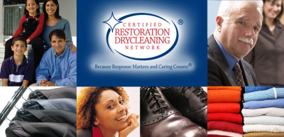 Certified restoration drycleaning network logo