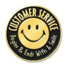 Customer Service Begins & Ends with a smile logo